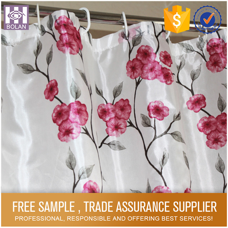 Eco-friendly polyester butterfly bathroom bath shower windows curtain