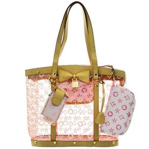 Custom Waterproof Women Beach Pvc Clear Plastic Tote Bags With Good Design Bag