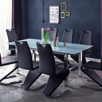 Stainless Steel Metal Legs Modern Factory Supply Gl Dining Tables