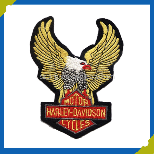 custom 3D fashion wholesale embroidered eagle patch