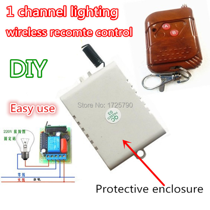 New Hot! 1 Channel RF Wireless Remote Control Light Switch