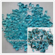 Aqua Blue Gas Fire Glass