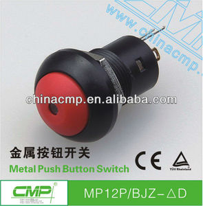 12mm waterproof latching led plastic arcade push button switch