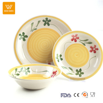 Hot ceramic stoneware home beautiful dinnerware flower design 12pcs crockery  sc 1 st  Alibaba & Hot Ceramic Stoneware Home Beautiful Dinnerware Flower Design 12pcs ...