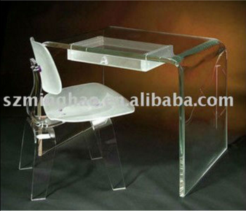 Acrylic Writing Desk Clear Computer Table And Chair