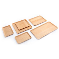 Non Slip Japanese Luxury Style Beech Wooden Serving Tray
