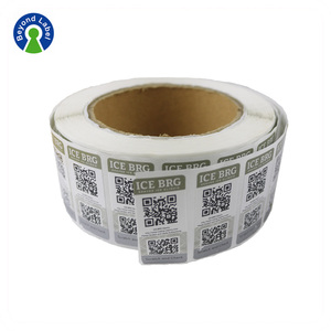 Waterproof Adhesive QR Code Labels Custom Random Barcode Stickers Roll