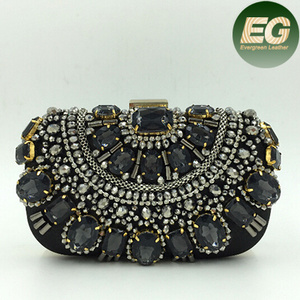 Clutch bags india wholesale shinny gem evening bag trendy ladies bag with cheap price EB536