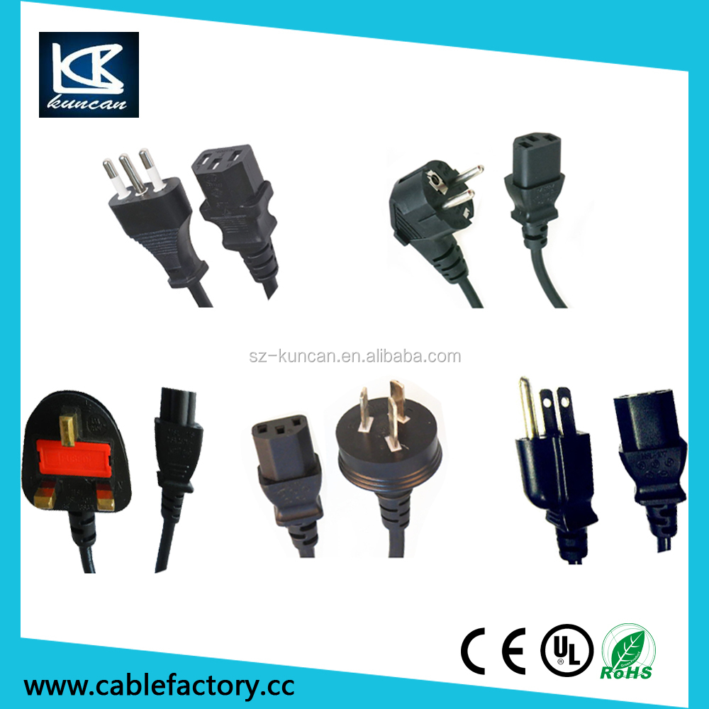Schuko power cable H03VVH2-F VDE Power plug EU 2-pin Plug and Figure 8 Connector from Shenzhen KUNCAN