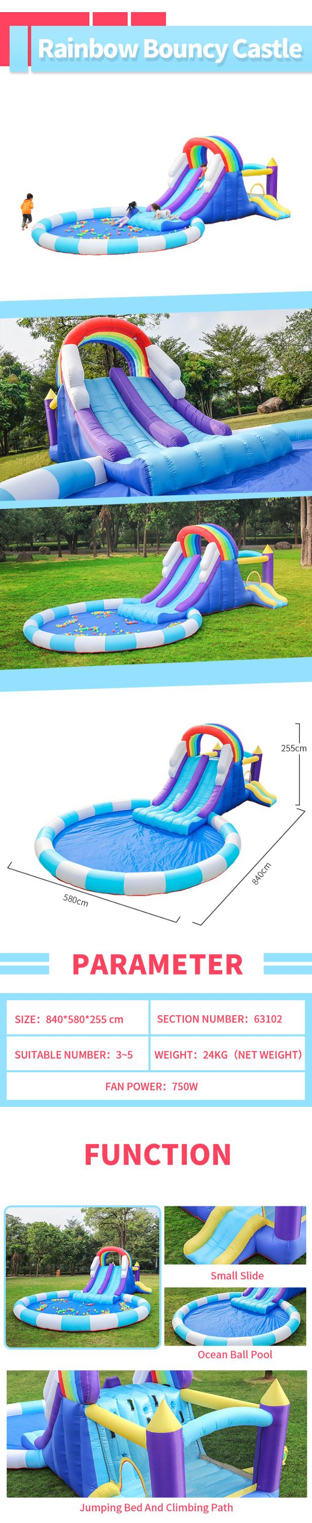 Airmyfun pvc custom kids best sale outdoor wholesale oxford fabric boncy castle house with water pool