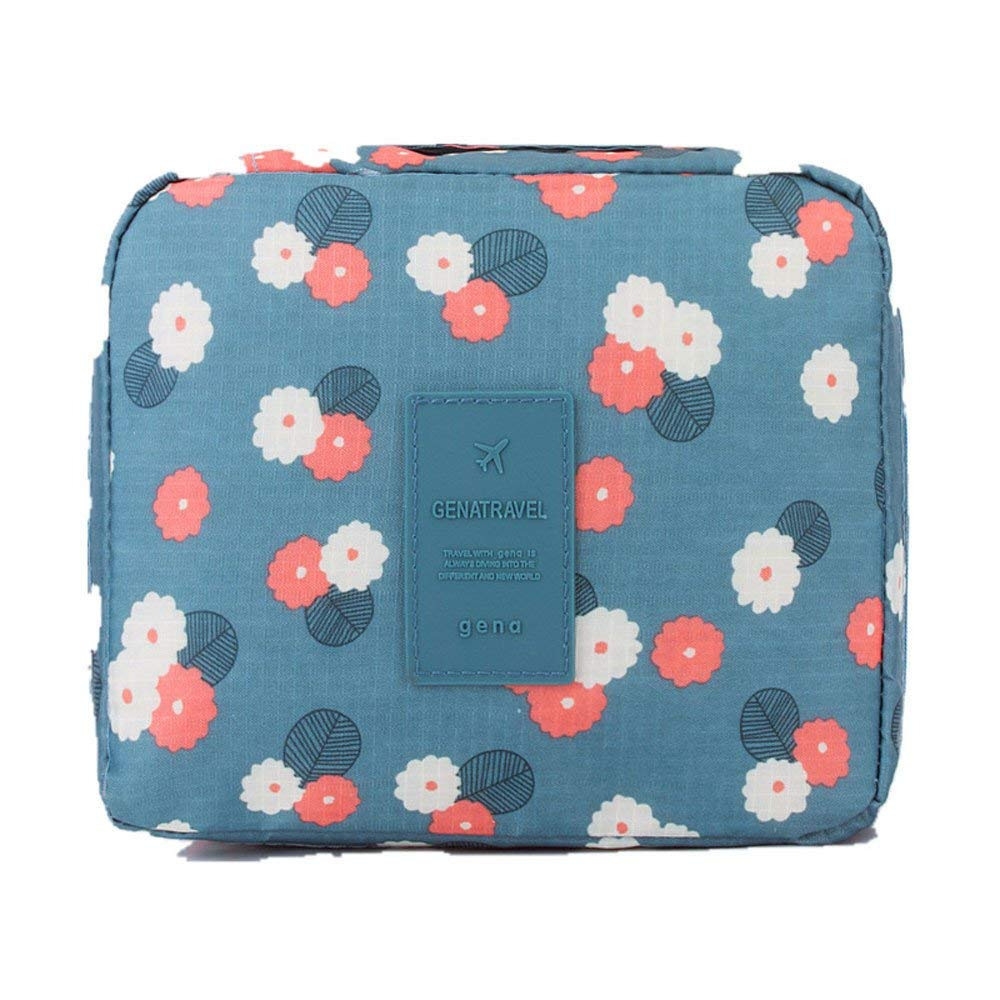Makeup Pouch,POTO Cosmetic Bag Makeup Storage Bag Women Girl Ladies Portable Toiletry Wash Bag Cute colorful Print Travel Storage Bag Makeup Case Oxford Waterproof Makeup Bag Tote with Zipper (A)