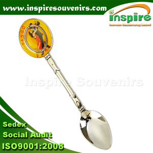 Sticker sealant with spainner of Tango souvenir brigher nickel spoon