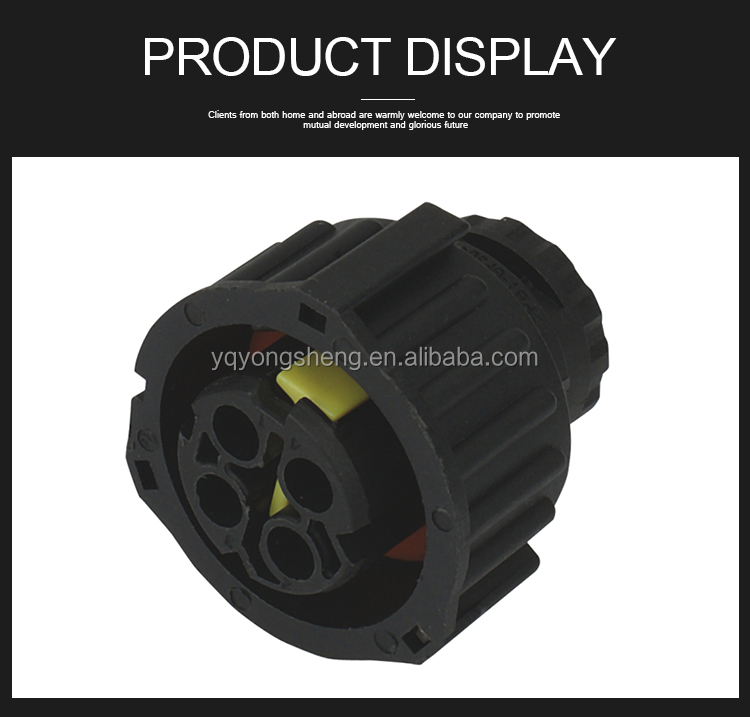 1-1813099-1 1-1813098-1 6-968968-2 PA66 black tyco TE AMP type Auto Electrical Connector 4 way female car waterproof sensor