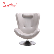 Hot sell Modern swivel leather chair with neck pillow