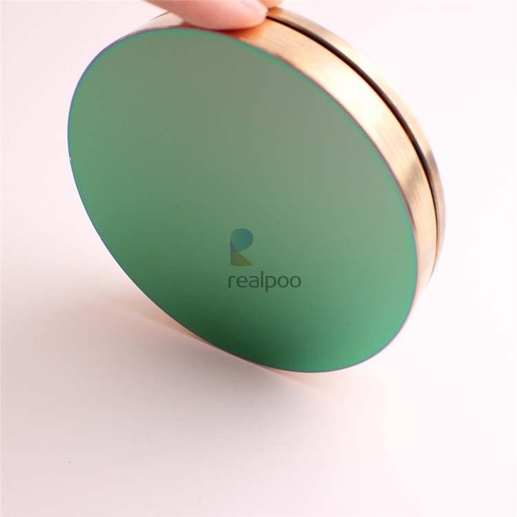 Flat copper mirror with gold coating for big power laser machine