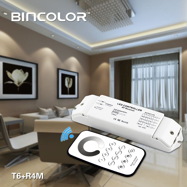 Flexible 4-zone control 4 channels zones dimmer for led strip