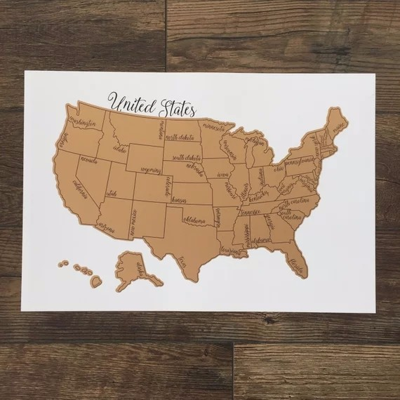 Scratch Off World Map With Us States.Scratch Off World Map Poster With Detailed Us States And Europe