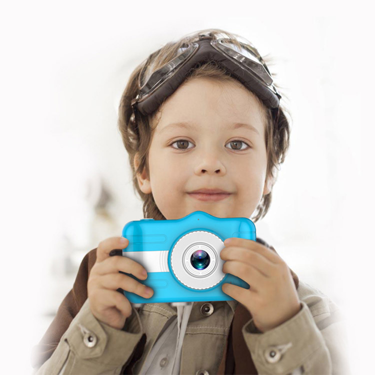 Shockproof PC Shell 3.5 Inch IPS Screen Kids Camera Full HD Video 600mAh Rechargeable Compact Children Camera