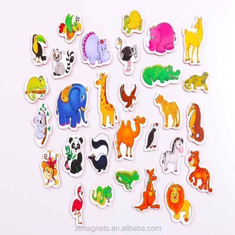 Lovely Animals Refrigerator Magnets Kids Learning Fridge Magnets Toys
