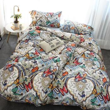 100% Egyptian Cotton Printed Bedding Sets/reactive Printing Bedsheets For  Sale Ready Goods