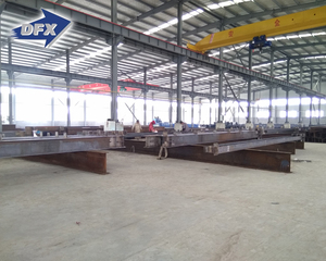 Qingdao pre fab H iron beam H steel channel structure warehouse building