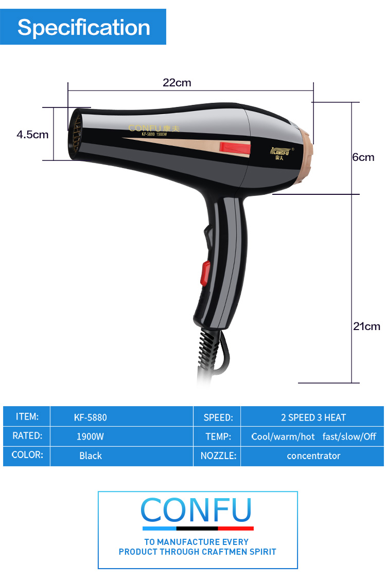 Huanengda Professional AC Hair Dryer For Hotel  Wholesale Hair Dryer