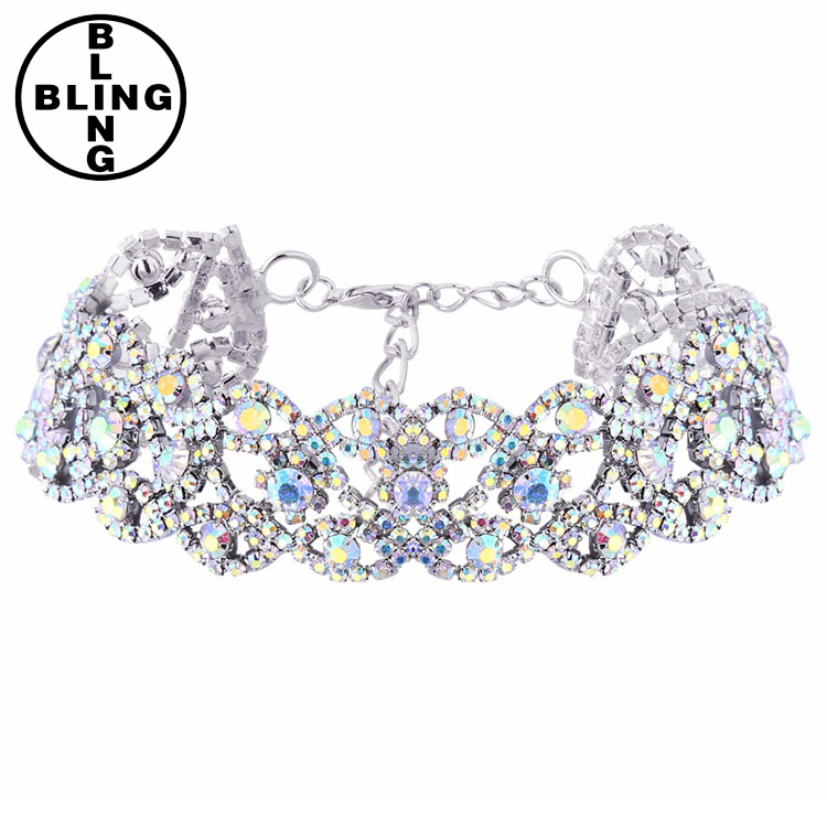 >>>2017 Bride Jewellery Rhinestone choker necklace women Maxi Crystal Chocker Necklace For Women