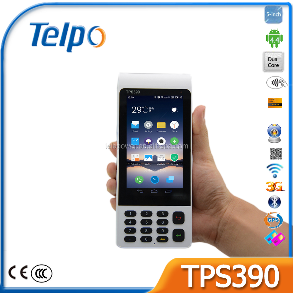 Telepower TPS390 Mobile handheld 5inch touch Android barcode scanner with printer