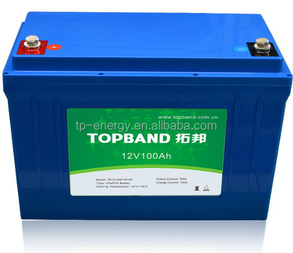 Smart 12V 100Ah lithium rechargeable battery