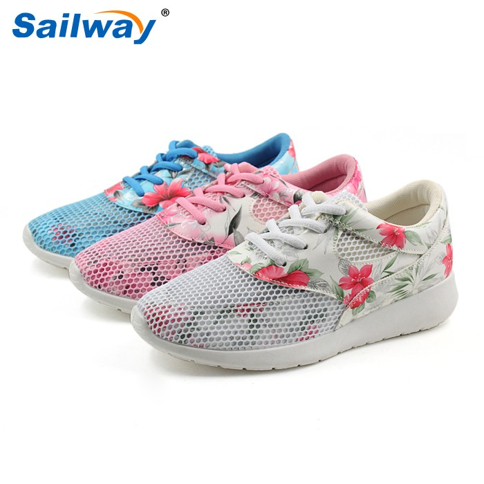 women trainers , ladies mesh sports shoes , running trainers
