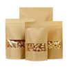 Brown Kraft Paper Zipper Food Bags With Clear Window