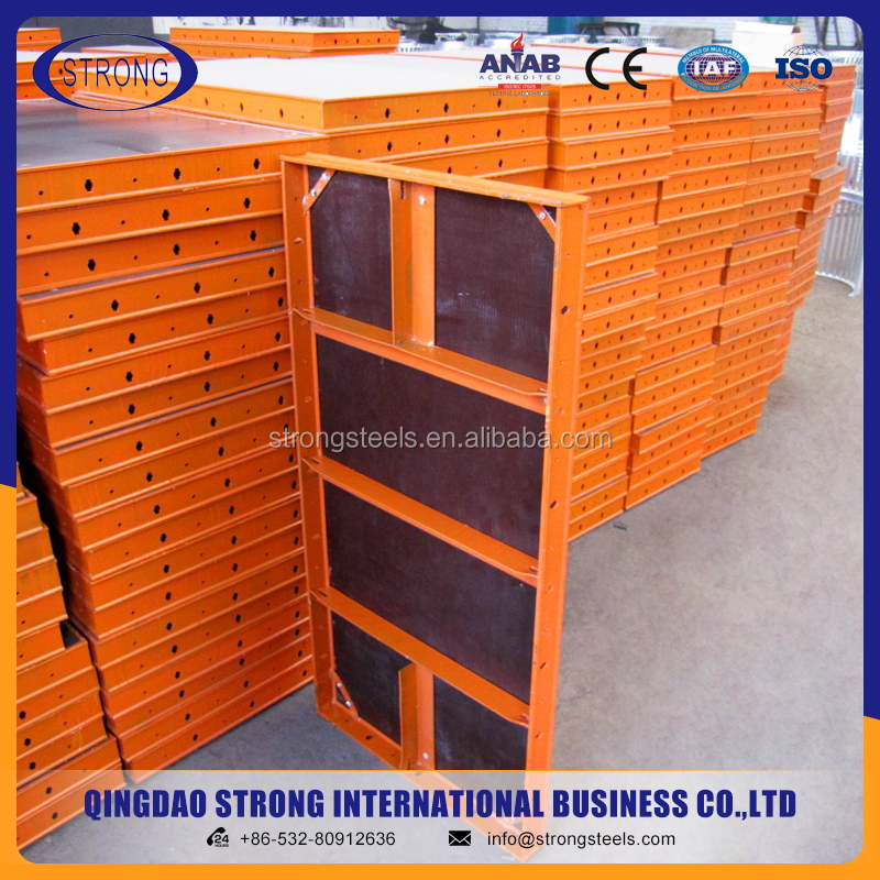 Steel Shuttering Plates Concrete Formwork System Formwork Decking Panel
