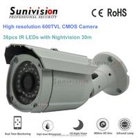 waterproof bullet camera housing PC 7030 600TVL cmos camera