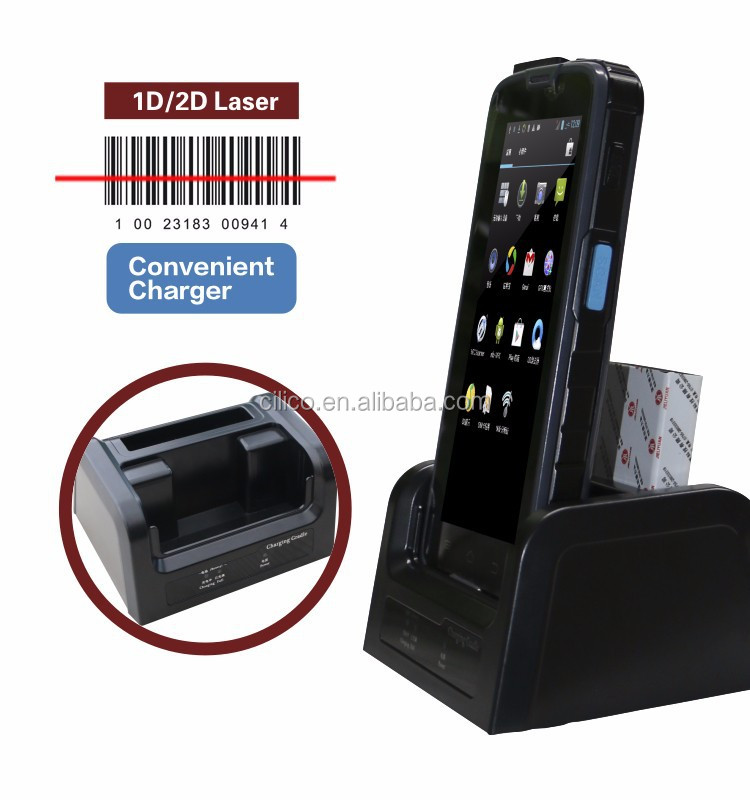 5'' handheld android handheld computer with 1D/2D barcode scanner , rfid reader ,wifi, 3G