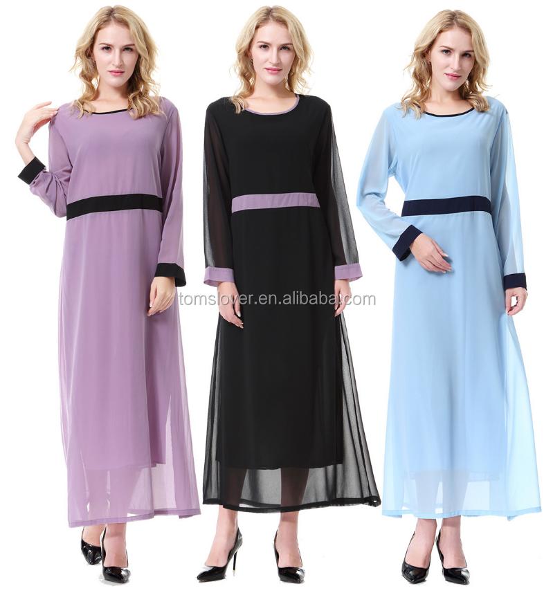 4689847aac Preço barato Árabe Abaya Kaftan Dubai Vestes Das Senhoras de Alta Qualidade  Chiffon Preto Vestido Longo