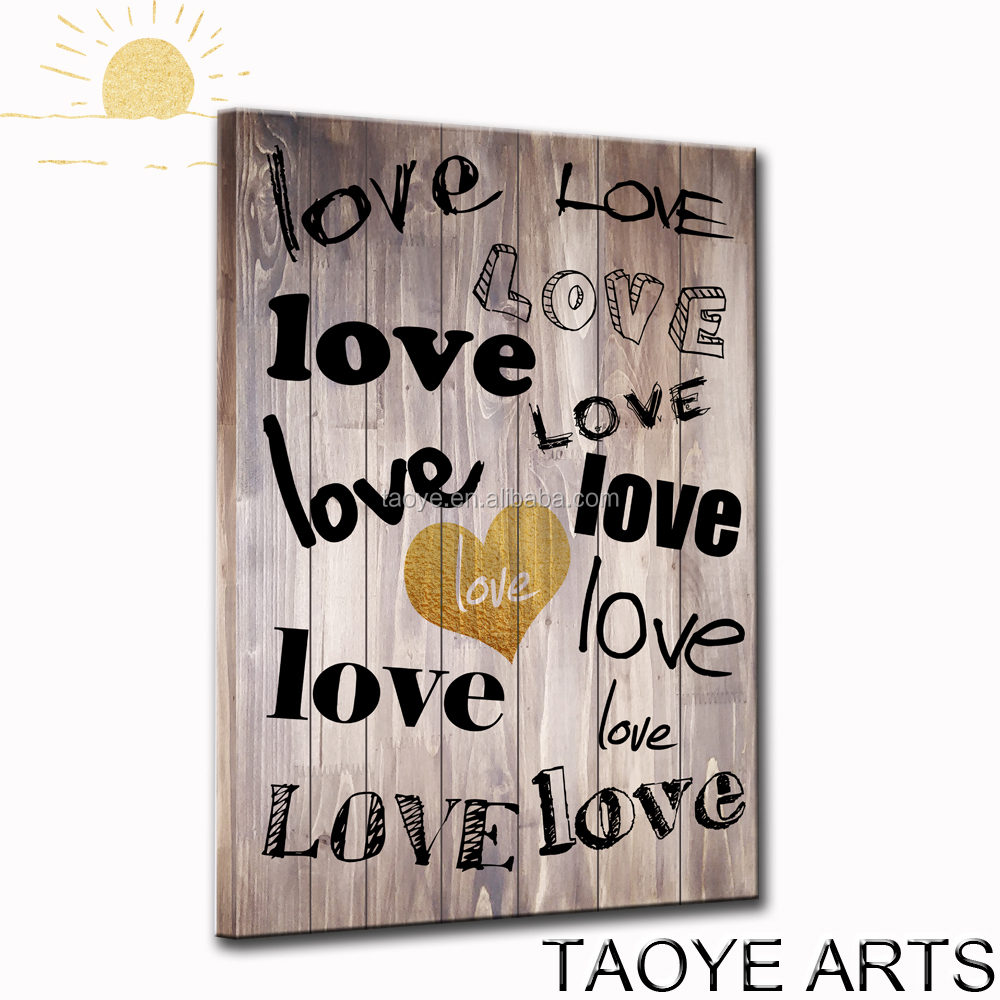 Popular Home decoration Wall Art Printed Wooden Painting