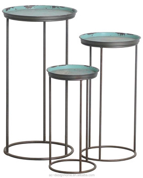 S 3 Round Metal Plant Stand