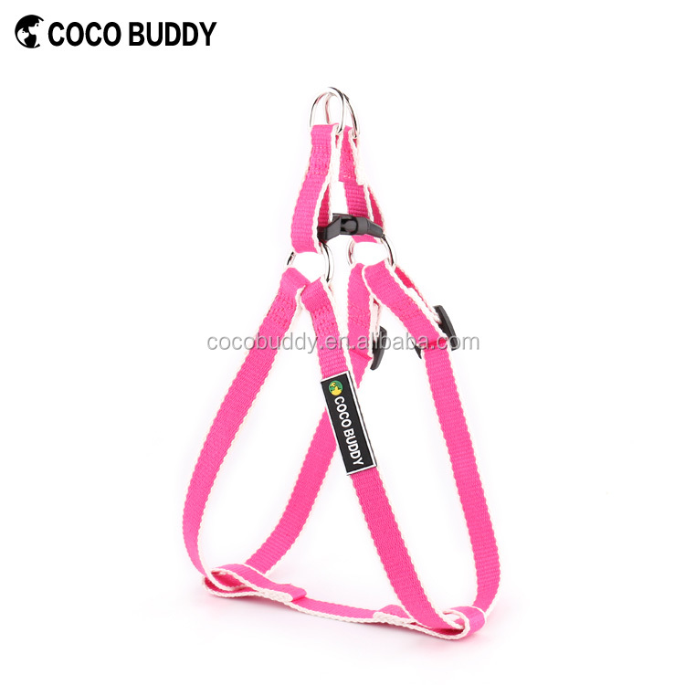 High Grade Organic Eco Friendly Bamboo Pet Supplies Pink Color or Customised Step in No-Pull Traning Led Dog Harness Vest