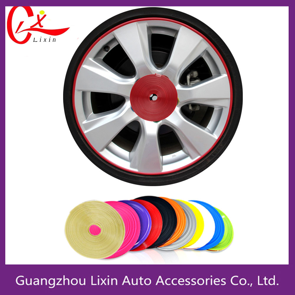 wheel decorative strip PVC rim guard 3M adhesive tape alloy wheel protectors