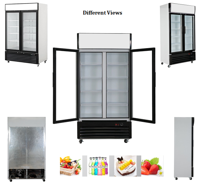 550L Glass Door Beer Showcase Cold drink Refrigerator With CE UL RoHS