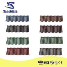 stone coated aluminuum zinc metal solar roofing with China Famous Brand