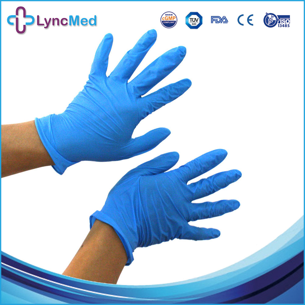 Free samples disposable examination gloves nitrile disposable