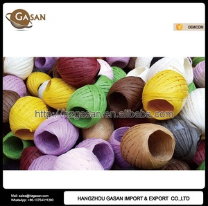 Promotional Top Quality 20m/roll Raffia Paper Carrier Rope For Gift Packing