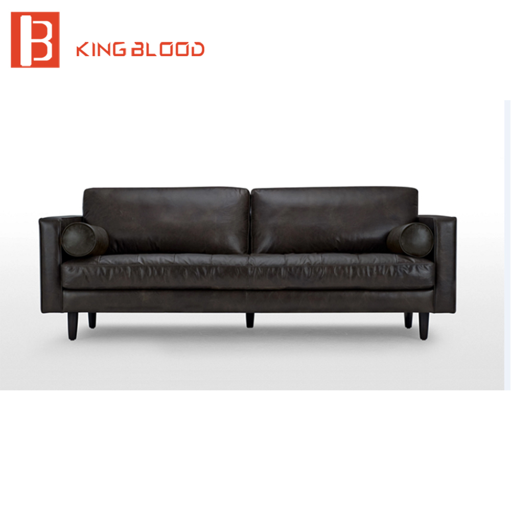 Vintage Black Leather Sectional 3 Seater Sofa Dimensions Sofa Set ...