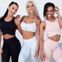 Wire Mesh Fitness Yoga Wear Two Piece Set Women Clothing