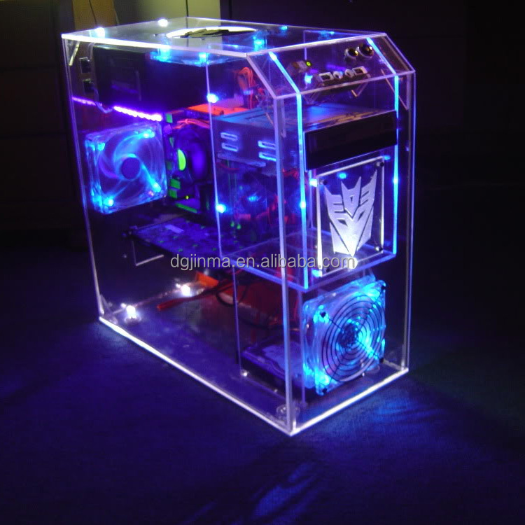 Custom Design Clear Led Acrylic Computer Case Buy