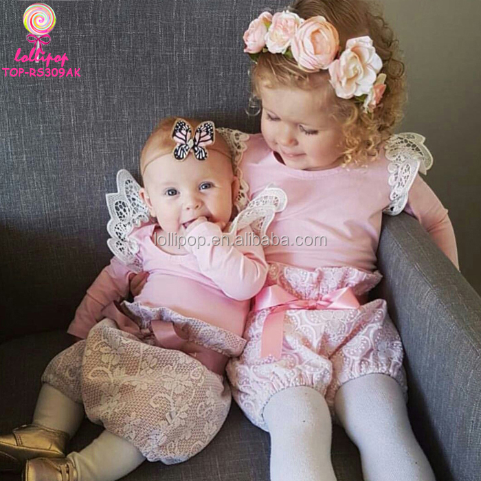 Baby Girls Clothing Cotton Knitted Lace Angel Wings Bodysuit Flutter Sleeve Onesie Australia