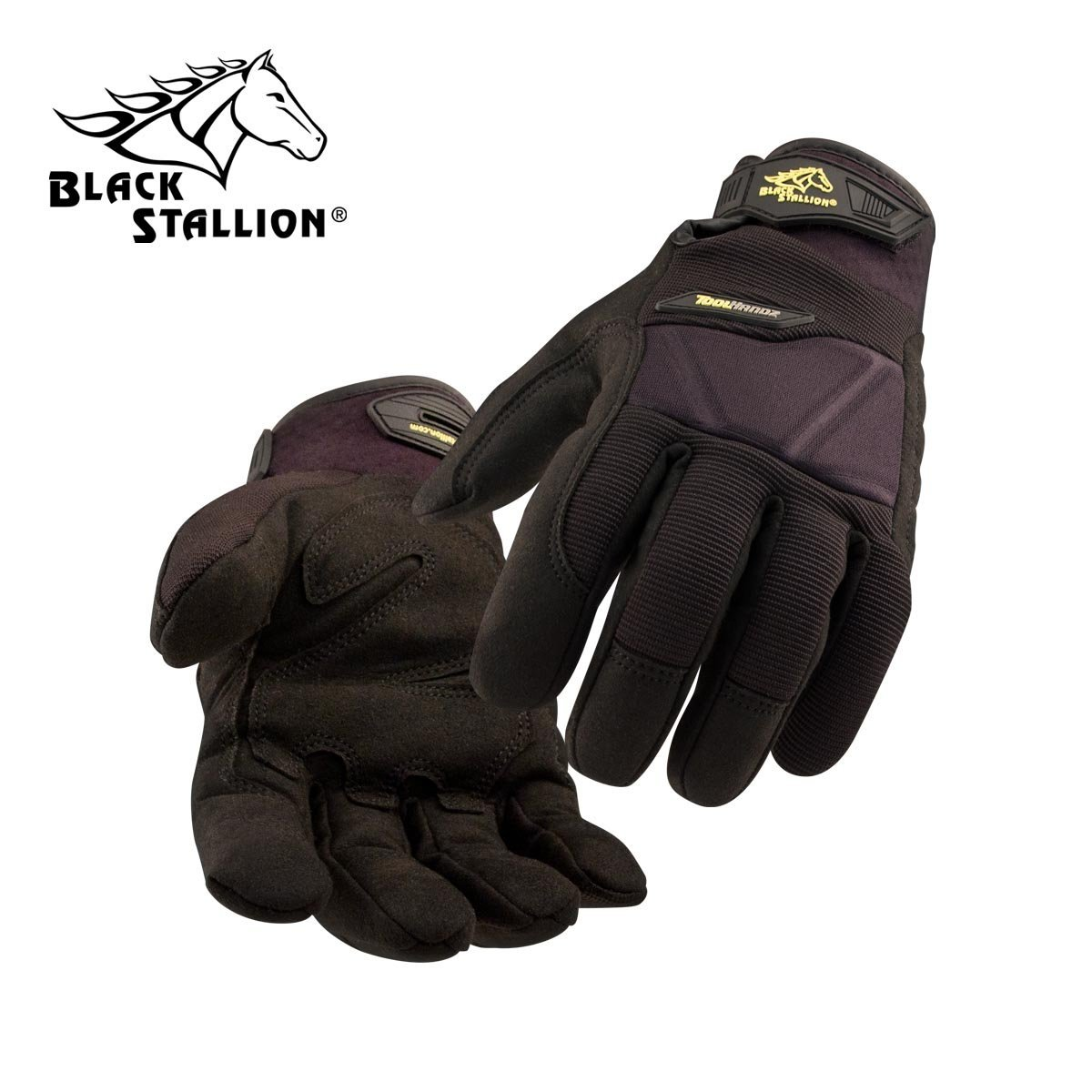 REVCO BLACK STALLION - GX101 TOOLHANDZ SYNTHETIC LEATHER MECHANIC'S GLOVES - SIZE: LARGE - CASE OF: 120 PAIR