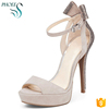 Phoees Ladies Fashionable Peep Toe Women Party Dress Shoes Platform Sex High Heel Pump Shoes Woman