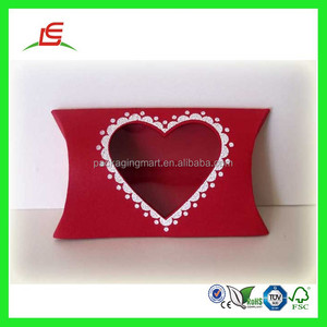 Q959 China Factory Supplier Wholesale Printed Clear Window Pillow Box